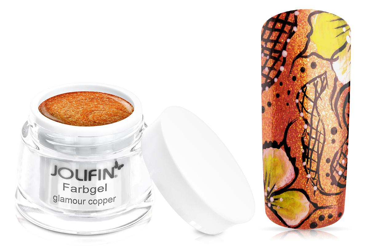 Jolifin Farbgel glamour copper 5ml