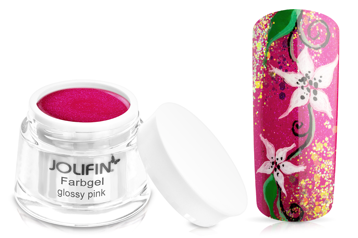 Jolifin Farbgel glossy pink 5ml