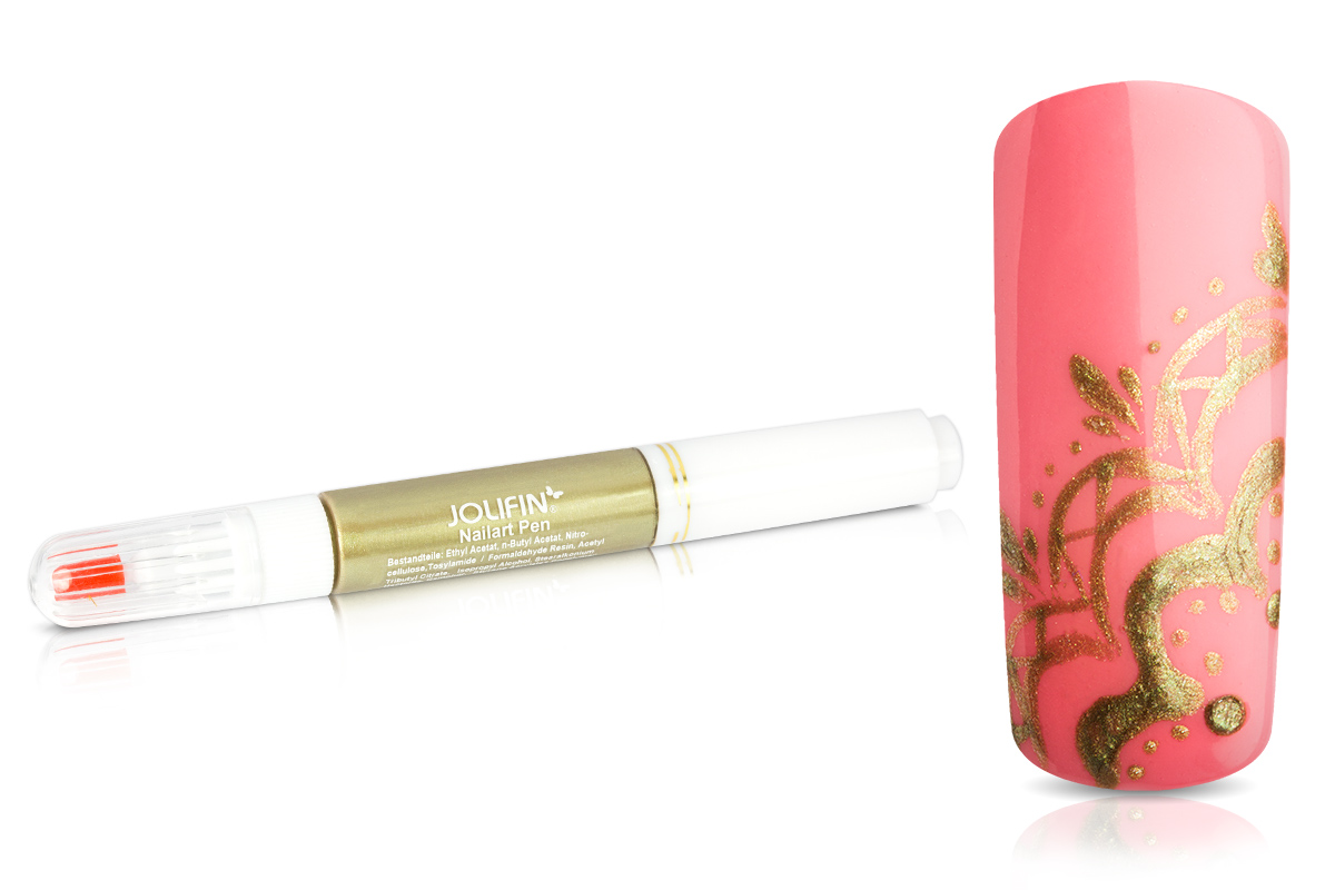 Jolifin Nail-Art Pen metallic gold 10ml