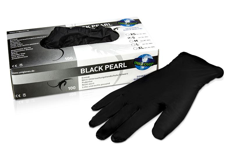 Nitrilhandschuhe Black Pearl Gr. S
