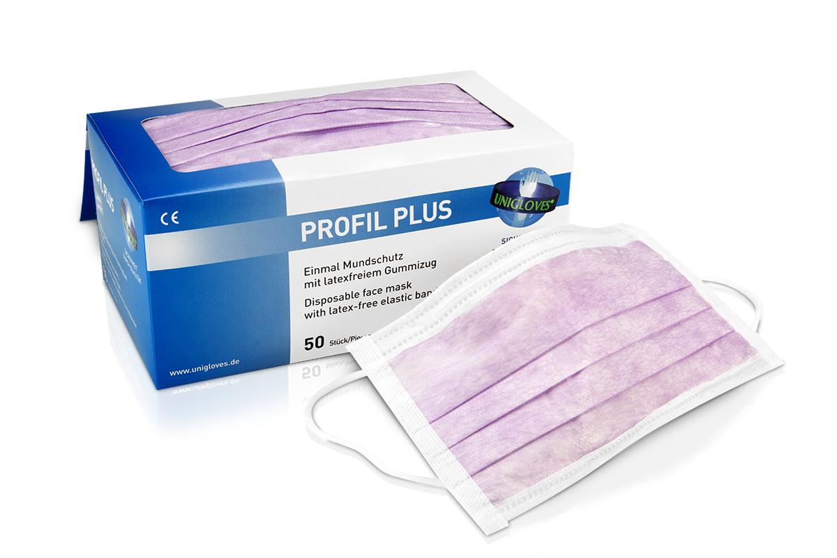 Mundschutz 50 Stück lila latexfrei