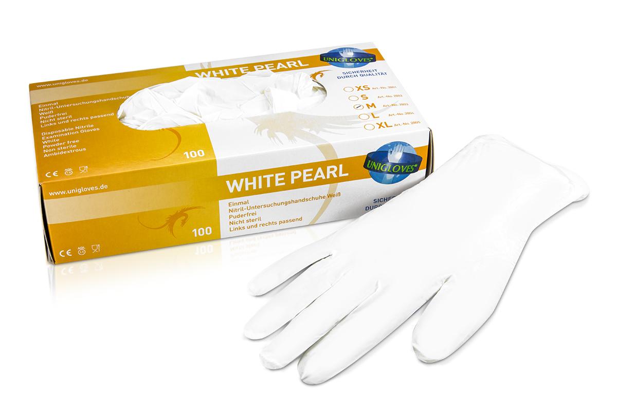 Nitrilhandschuhe White Pearl Gr. M
