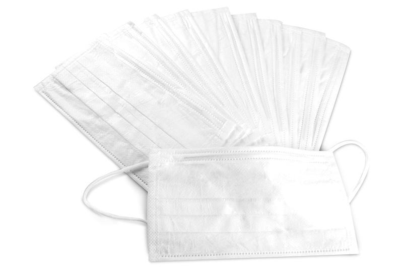 10 Staubmasken weiß latexfrei