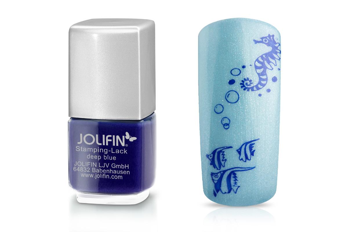 Jolifin Stamping-Lack - deep blue 12ml