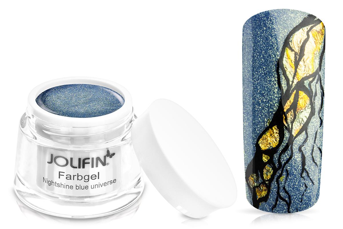 Jolifin Farbgel Nightshine blue universe 5ml