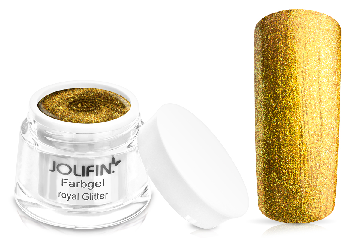 Jolifin Wetlook Farbgel royal Glitter 5ml
