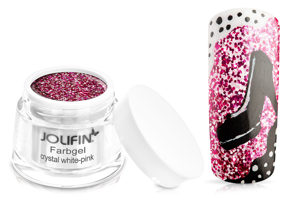 Jolifin Farbgel crystal white-pink 5ml