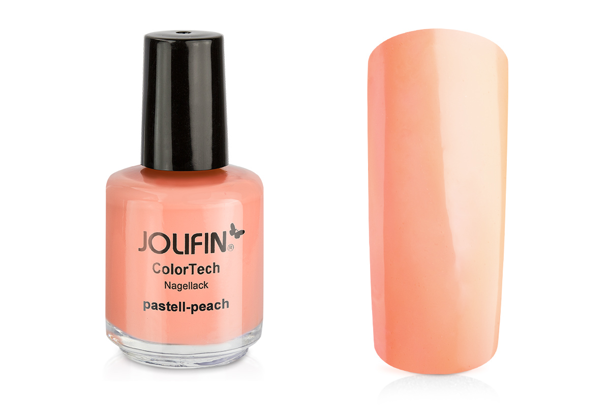 jolifin colortech nagellack pastell peach 14ml pretty nail shop 24. Black Bedroom Furniture Sets. Home Design Ideas