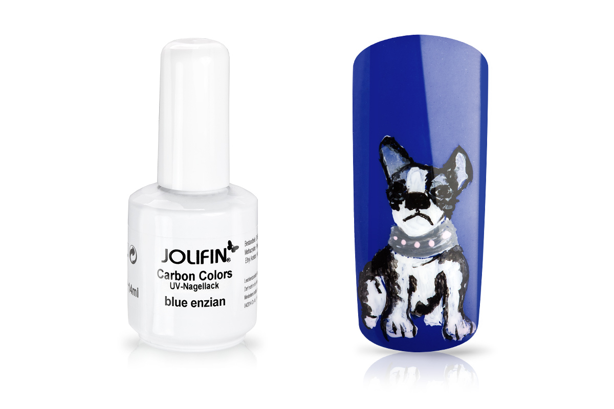 Jolifin Carbon Quick-Farbgel - blue enzian 14 ml