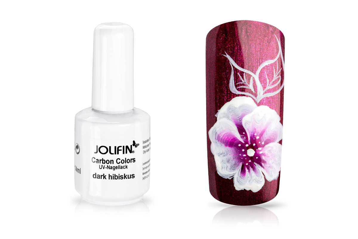 Jolifin Carbon Quick-Farbgel - dark hibiscus 11 ml