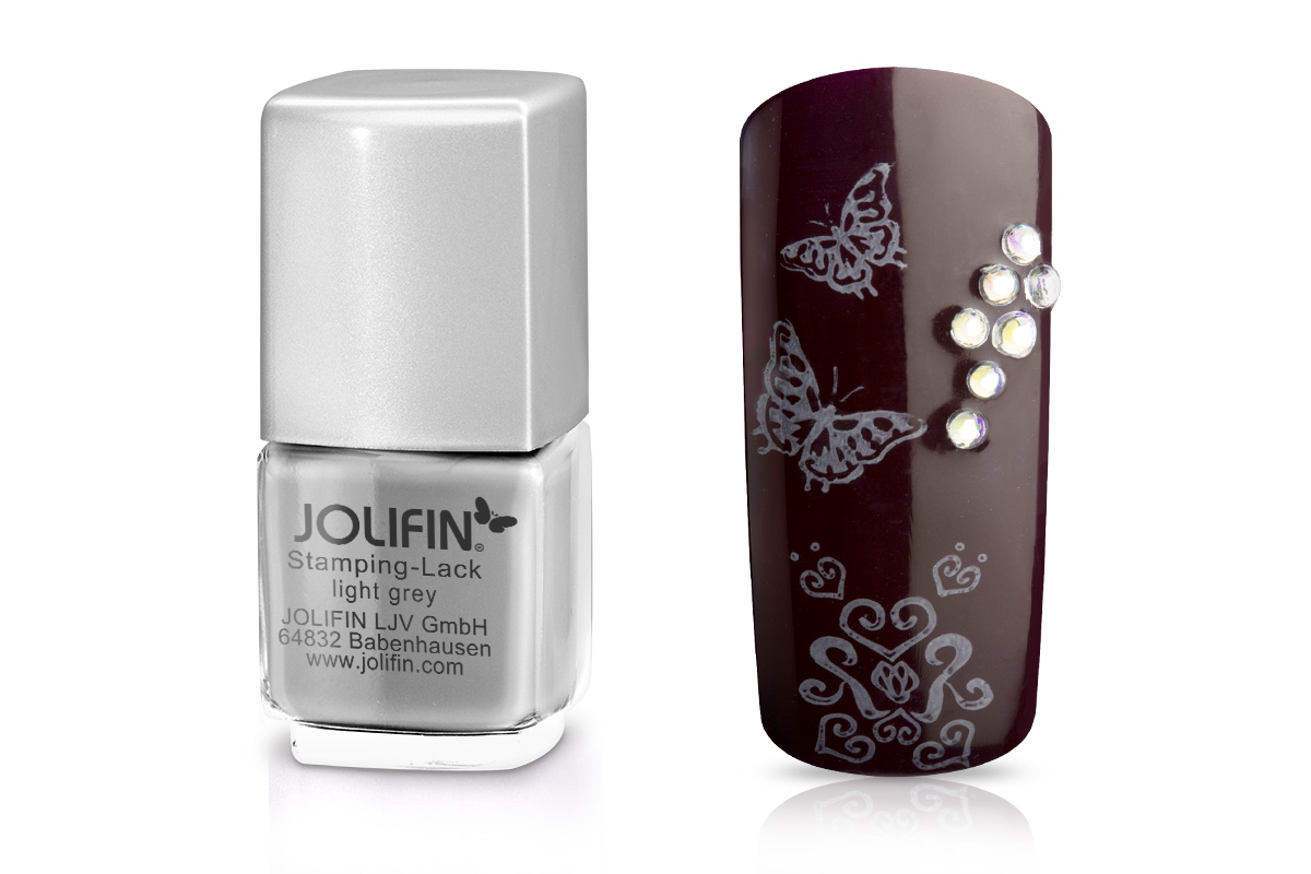 Jolifin Stamping-Lack - light grey 12ml