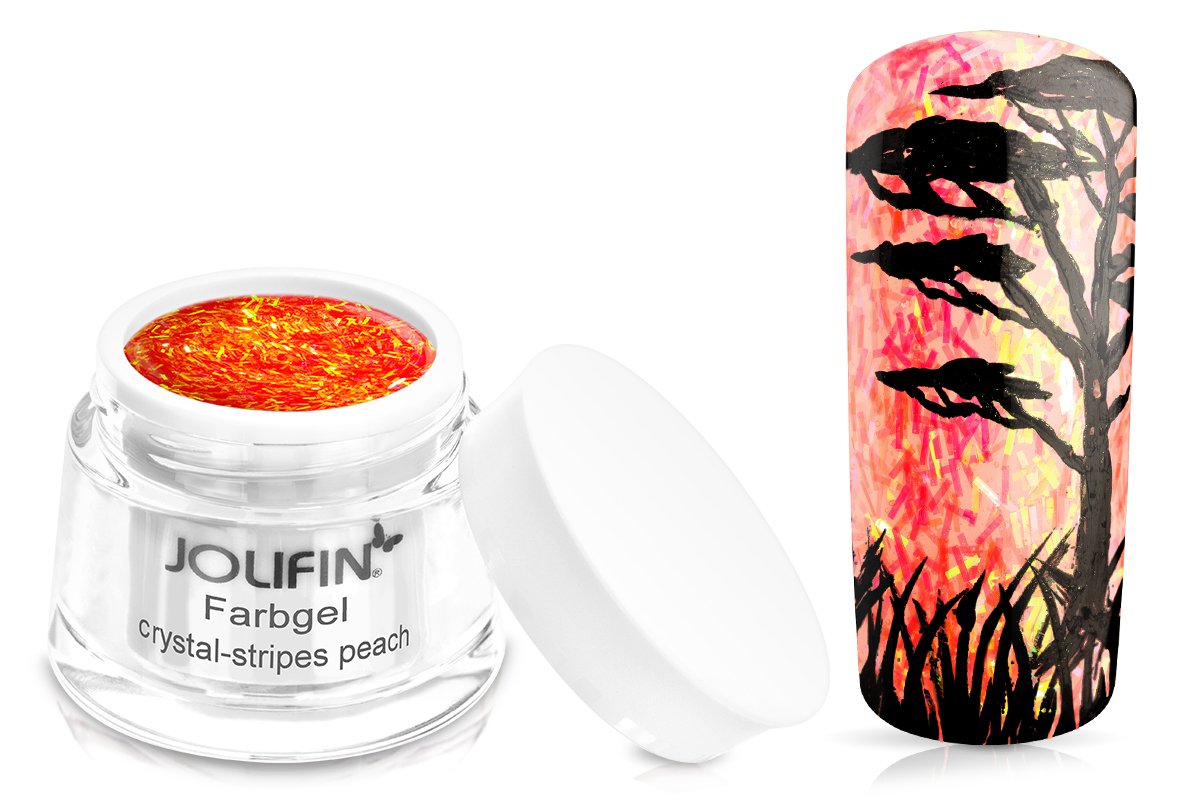 Jolifin Farbgel crystal-stripes peach 5ml