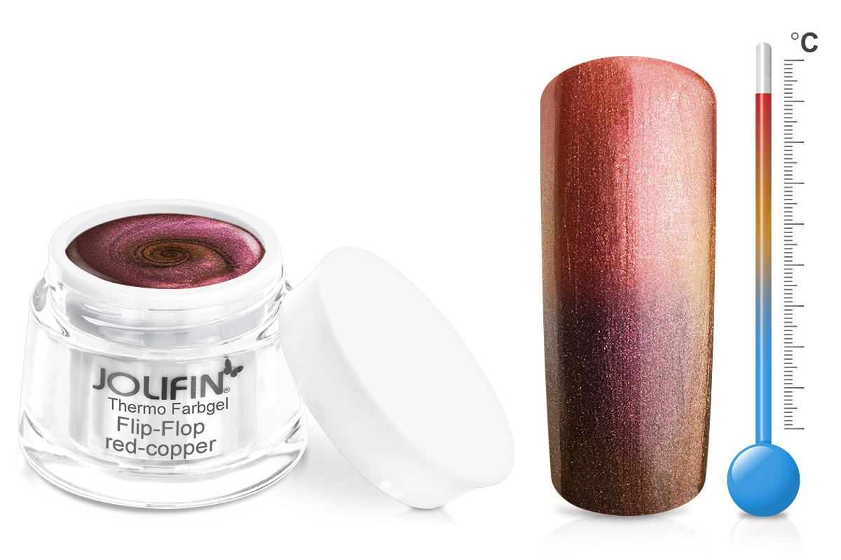 Jolifin Thermo Farbgel Flip-Flop red-copper 5ml