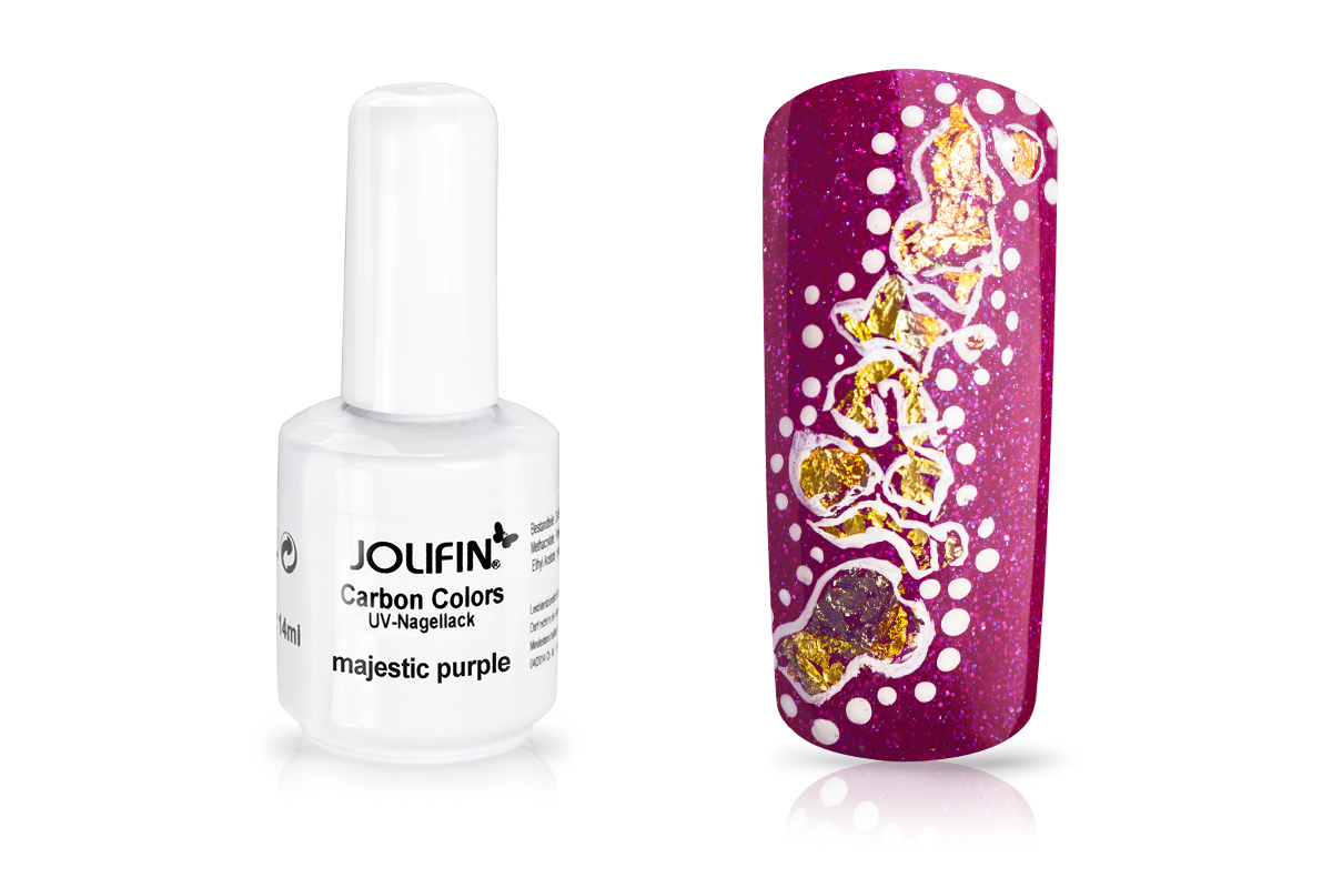 Jolifin Carbon Colors UV-Nagellack majestic purpure 11ml