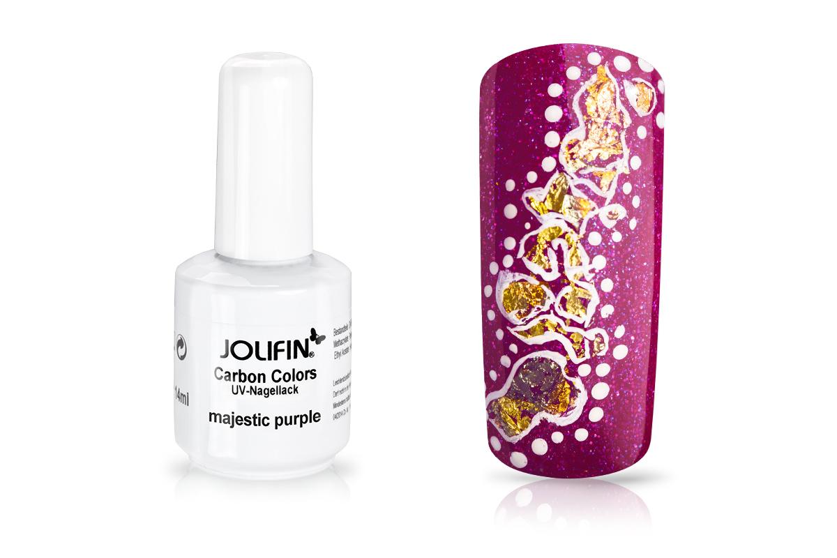 Jolifin Carbon Quick-Farbgel - majestic purpure 11ml