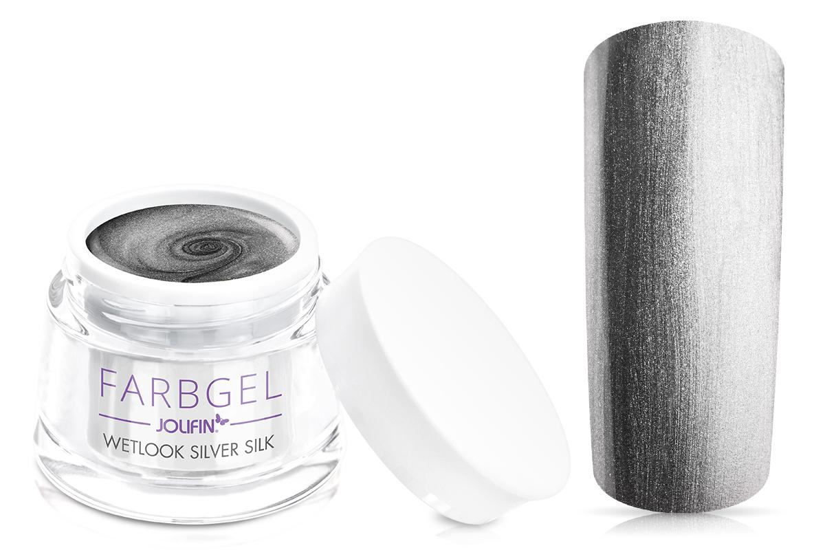 Jolifin Wetlook Farbgel silver silk 5ml
