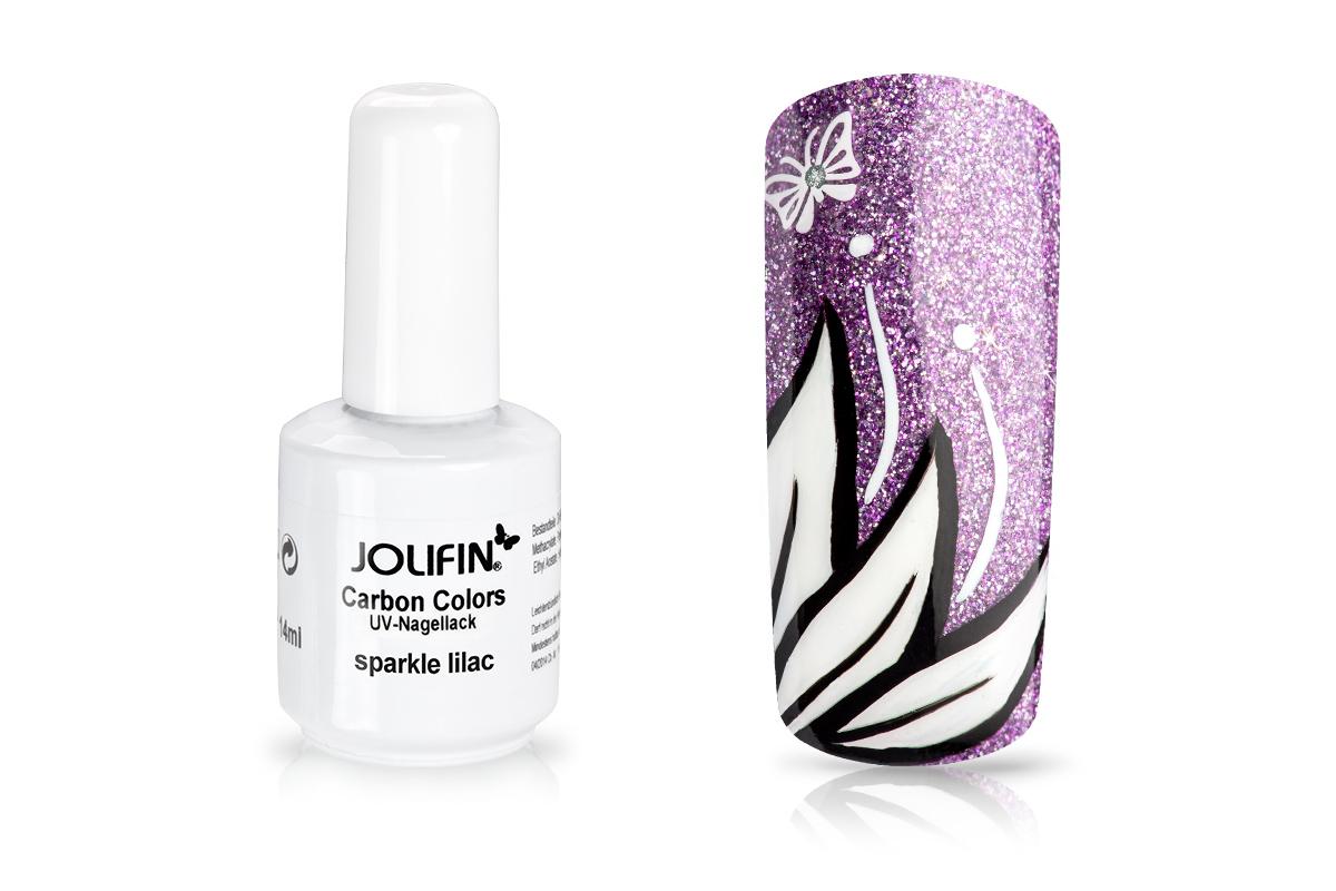 Jolifin Carbon Quick-Farbgel - sparkle lilac 11ml