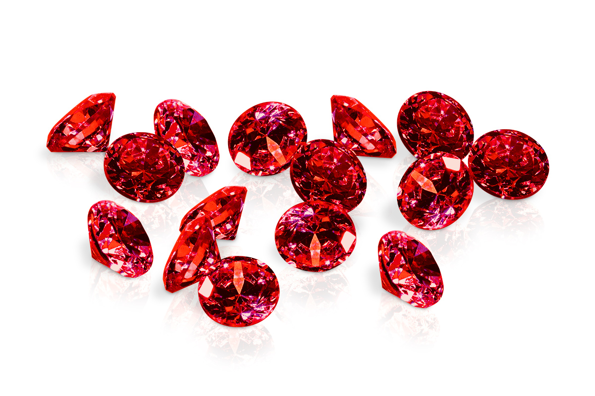 Jolifin Diamonds red 2mm