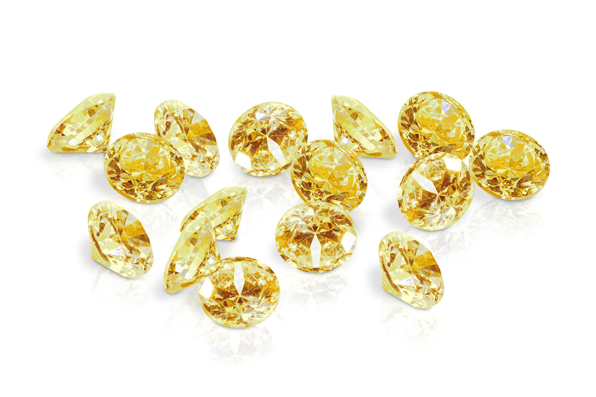 Jolifin Diamonds yellow 2mm