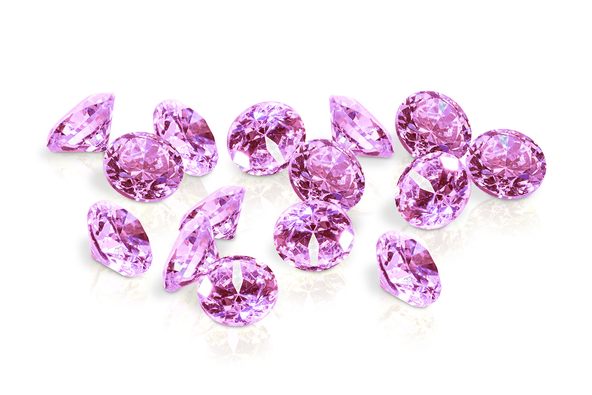Jolifin Diamonds light pink 2mm