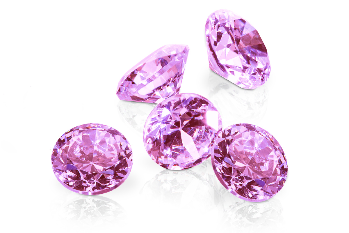 Jolifin Diamonds light pink 5mm