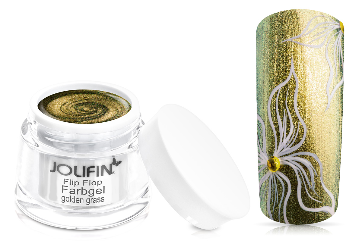 Jolifin Farbgel Flip-Flop golden grass 5ml