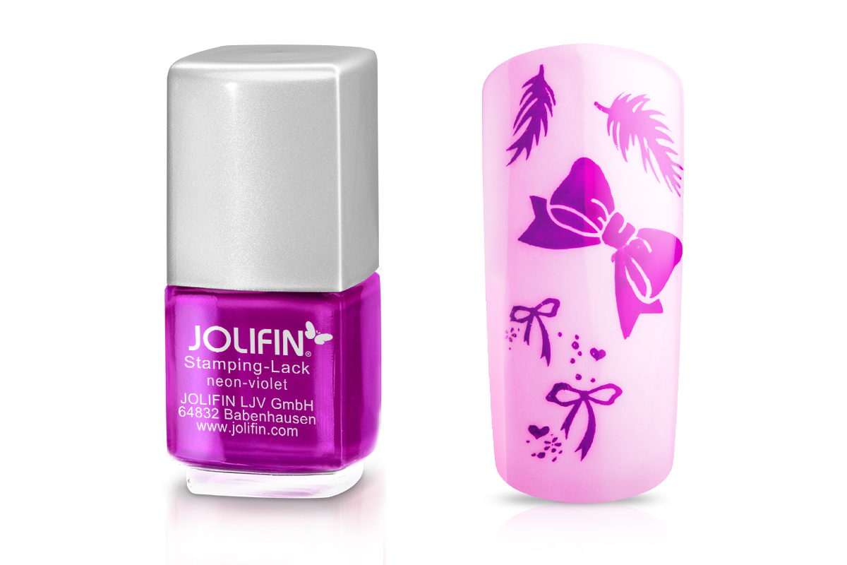 Jolifin Stamping-Lack - neon-violet 12ml