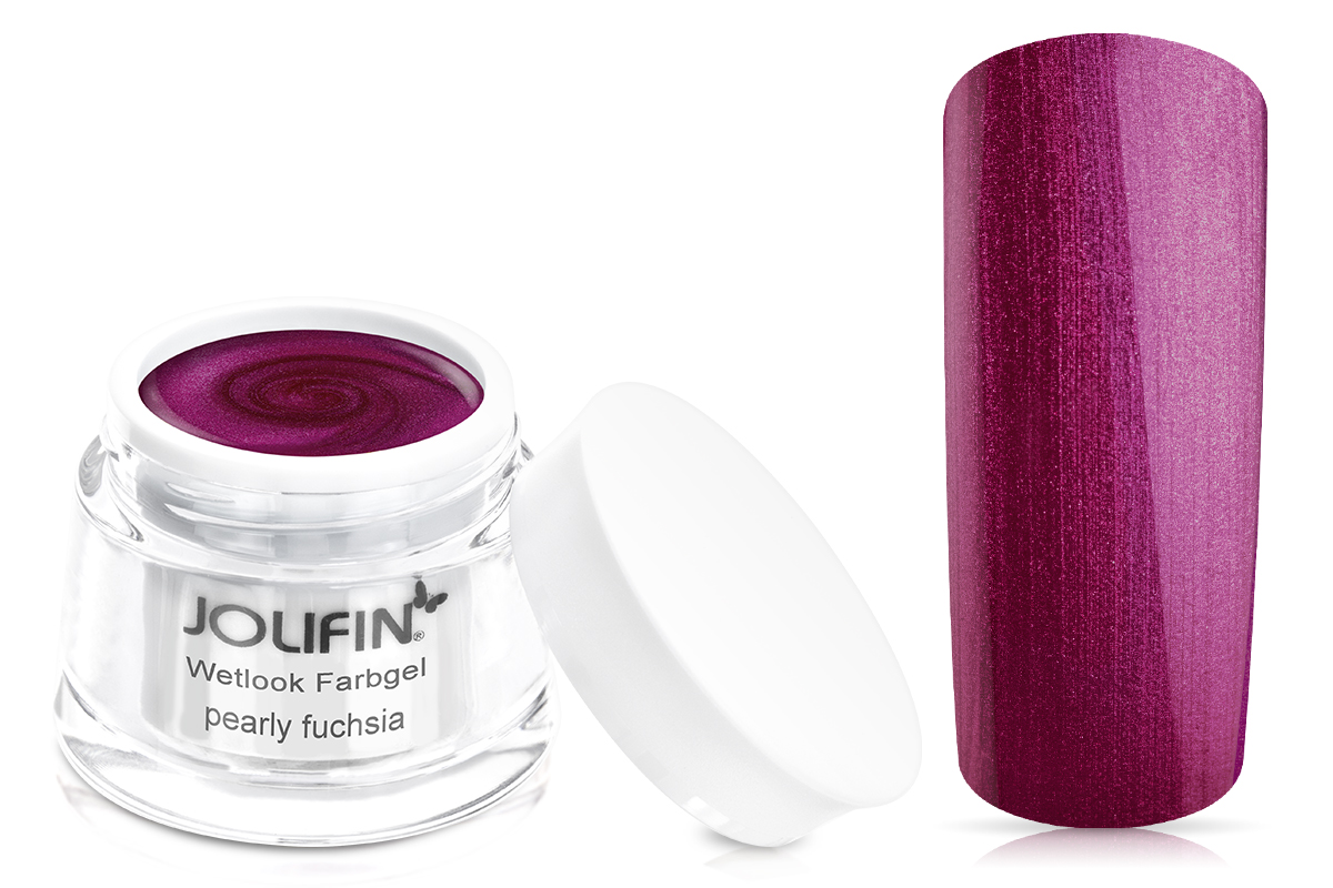 Jolifin Wetlook Farbgel pearly fuchsia 5ml
