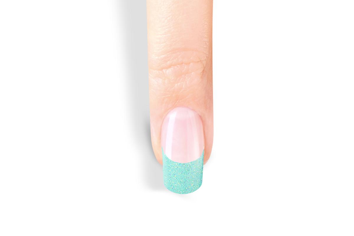jolifin 100er tipbox glitter tips t rkis pretty nail shop 24. Black Bedroom Furniture Sets. Home Design Ideas