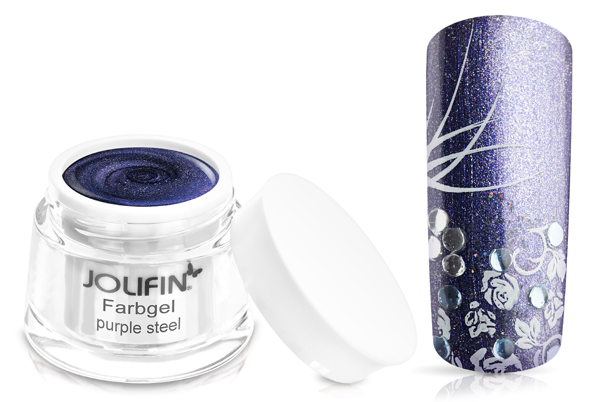 Jolifin Farbgel purple steel 5ml