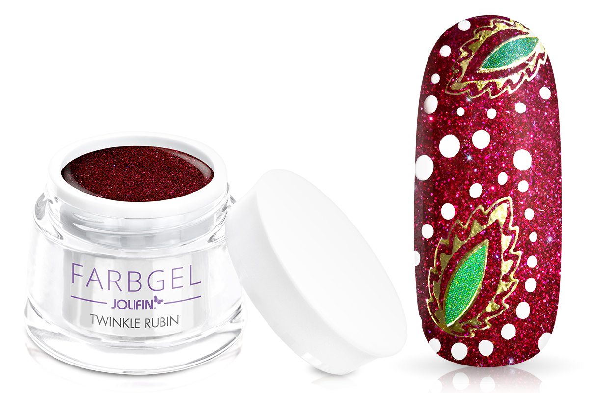 Jolifin Farbgel twinkle rubin 5ml