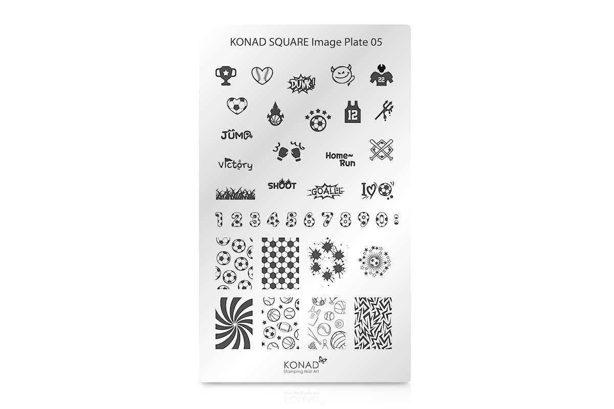 KONAD Schablone XL 05