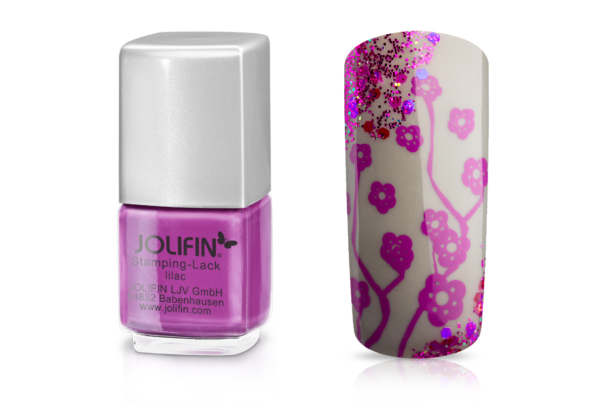 Jolifin Stamping-Lack - lilac 12ml