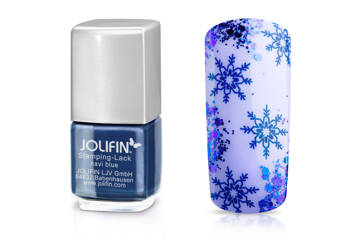 Jolifin Stamping-Lack - navi blue 12ml