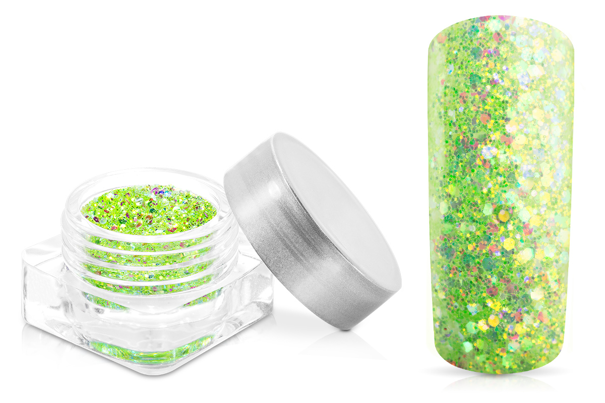 Jolifin Illusion Glitter IV lime