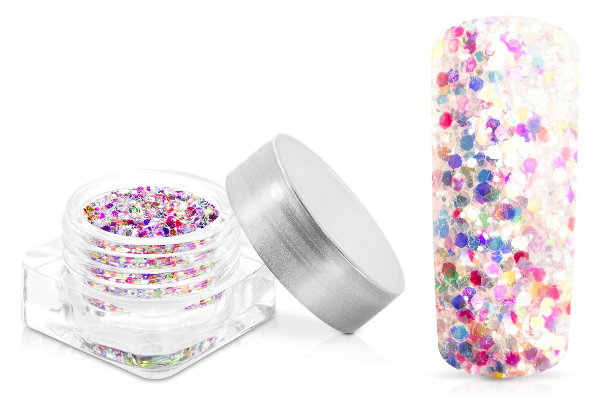 Jolifin Illusion Glitter IV confetti white
