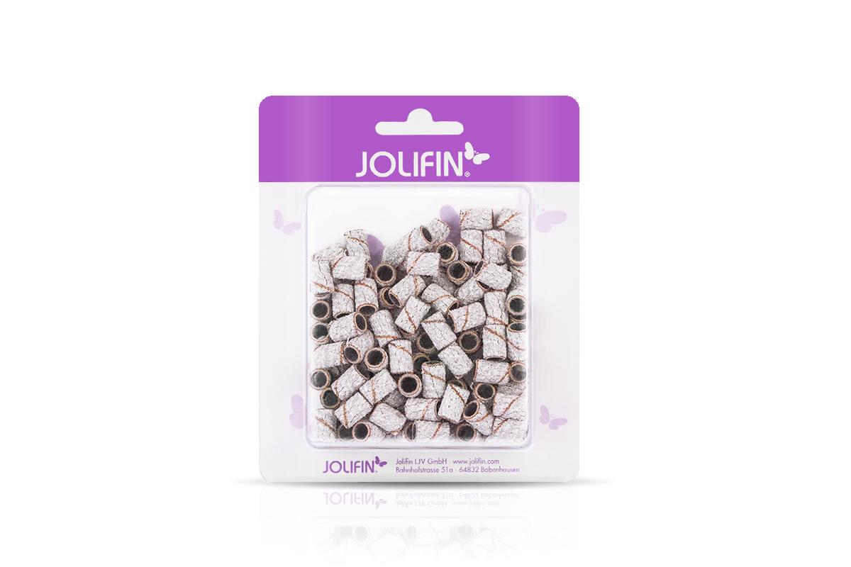 Jolifin Schleifhülsen 100er grob weiß