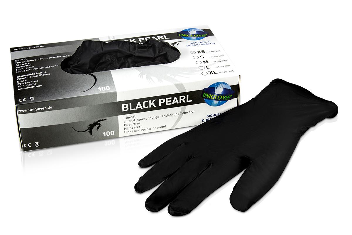 Nitrilhandschuhe Black Pearl Gr. XS