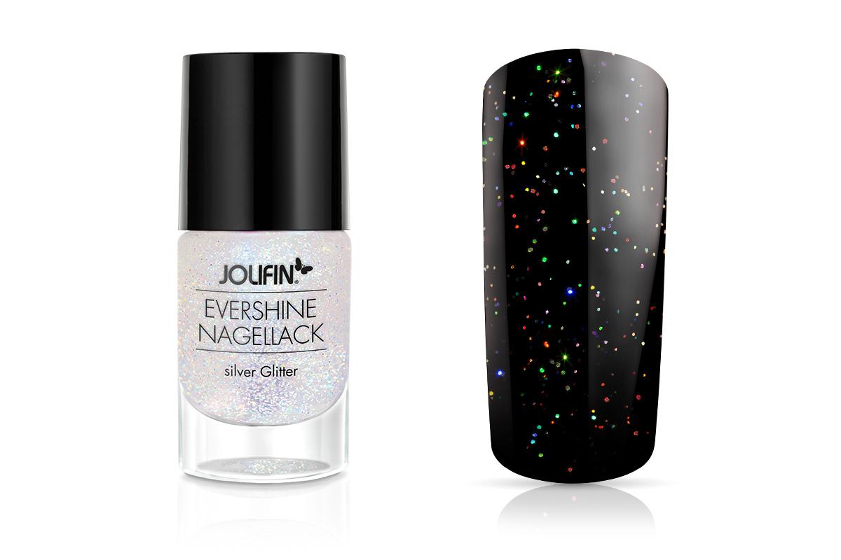Jolifin EverShine Nagellack silver Glitter 9ml