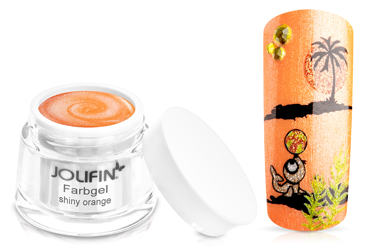 Jolifin Farbgel shiny orange 5ml