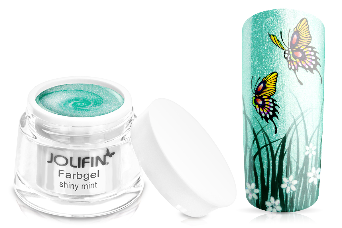 Jolifin Farbgel shiny mint 5ml