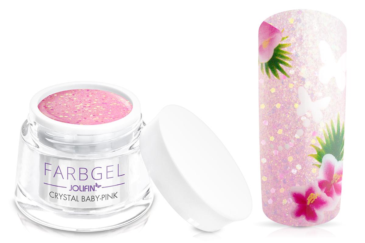 Jolifin Farbgel crystal baby-pink 5ml
