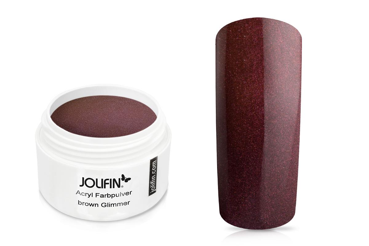 Jolifin Acryl Farbpulver brown Glimmer 5g