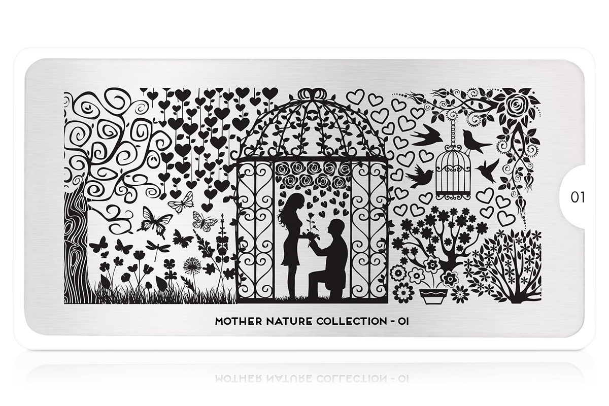MoYou-London Schablone Mother Nature Collection 01