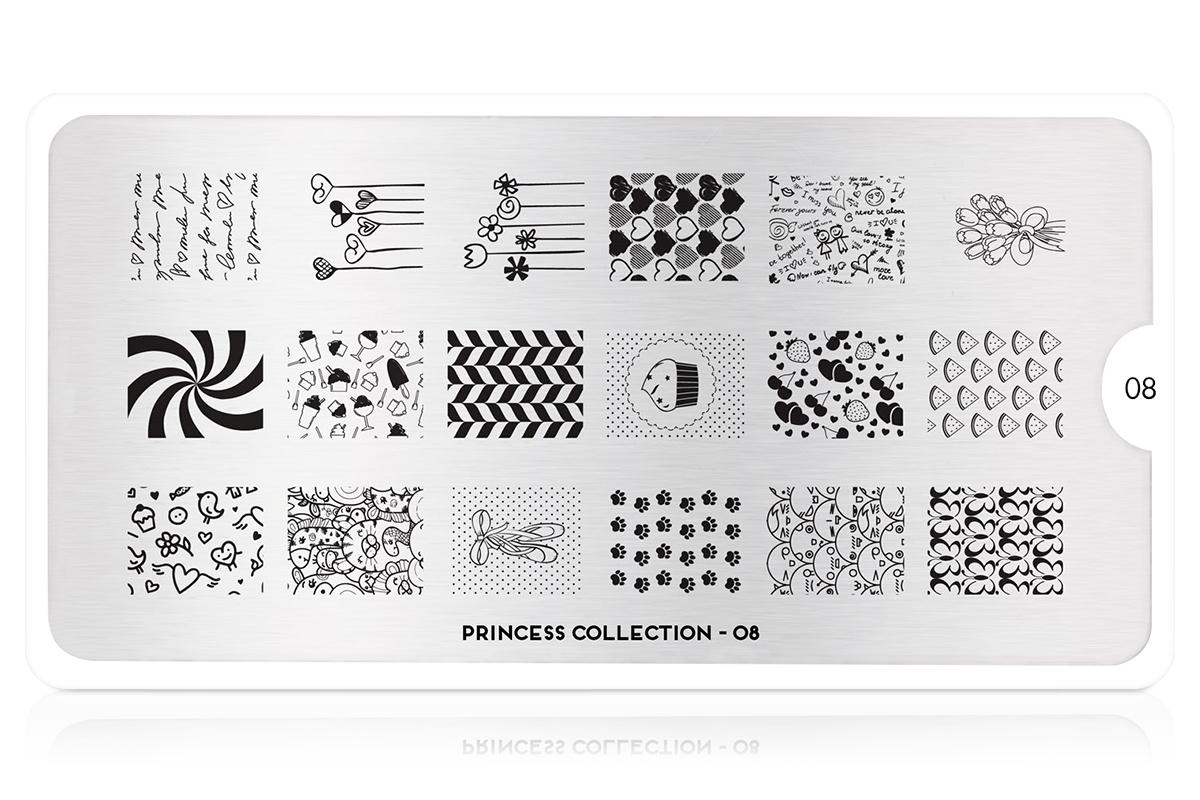MoYou-London Schablone Princess Collection 08