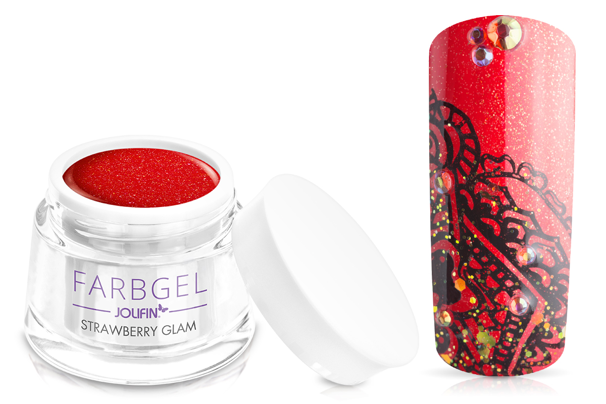Jolifin Farbgel strawberry glam 5ml