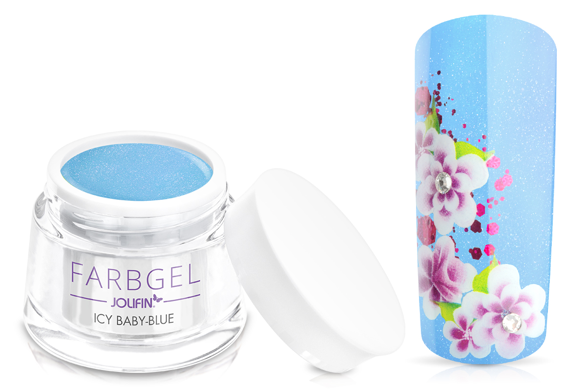 Jolifin Farbgel icy baby-blue 5ml