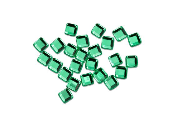 Jolifin Strasssteine Quadrat green