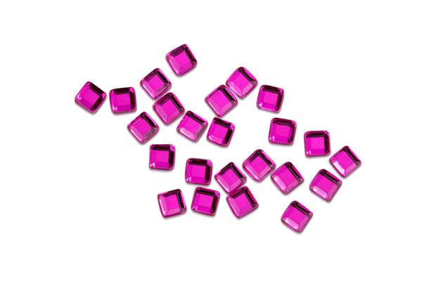 Jolifin Strasssteine Quadrat pink