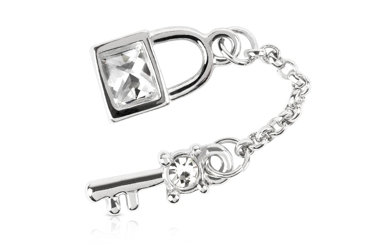 Jolifin Nagel-Piercing Schlüssel mit Schloss